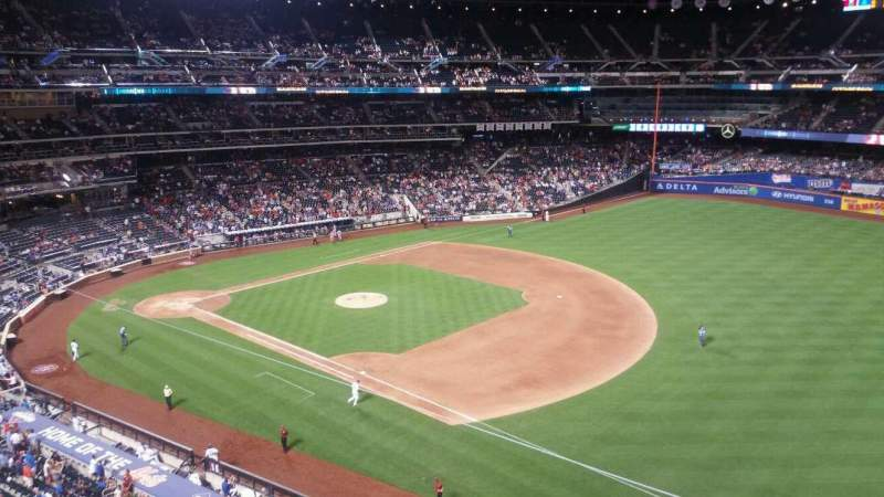 Seating view for Citi Field Section 404 Row 1 Seat 17