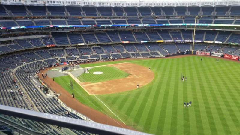Seating view for Yankee Stadium Section 409 Row 1 Seat 3