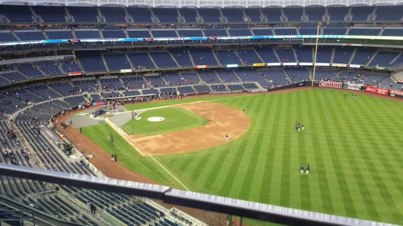 Seating view for Yankee Stadium Section 409 Row 1 Seat 4
