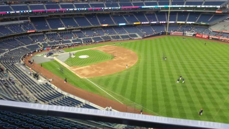 Seating view for Yankee Stadium Section 409 Row 1 Seat 18