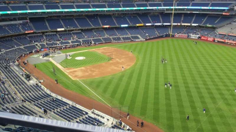 Seating view for Yankee Stadium Section 409 Row 1 Seat 5