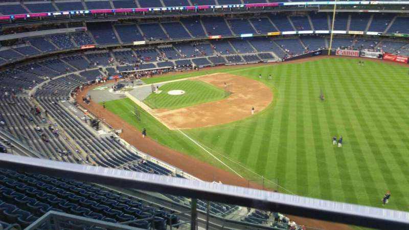 Seating view for Yankee Stadium Section 409 Row 1 Seat 17