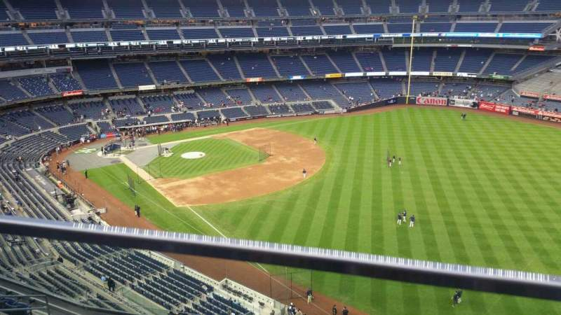Seating view for Yankee Stadium Section 409 Row 1 Seat 6
