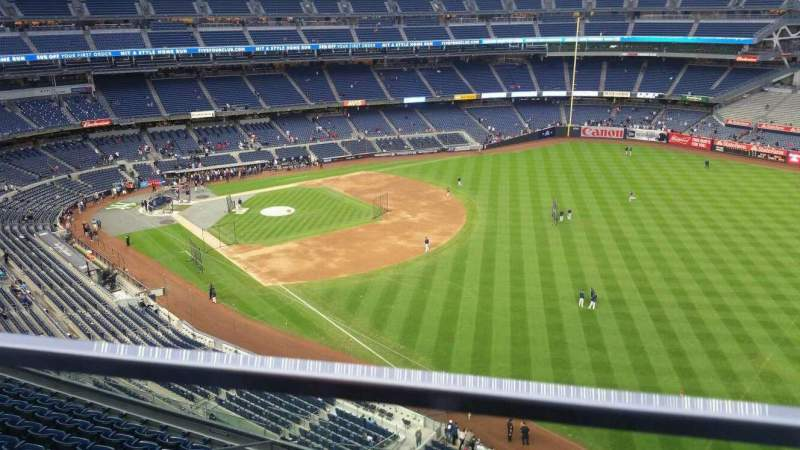 Seating view for Yankee Stadium Section 409 Row 1 Seat 15