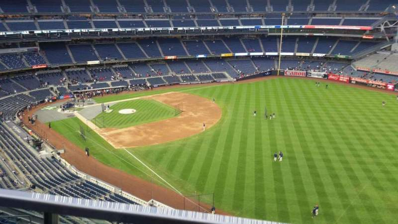 Seating view for Yankee Stadium Section 409 Row 1 Seat 7