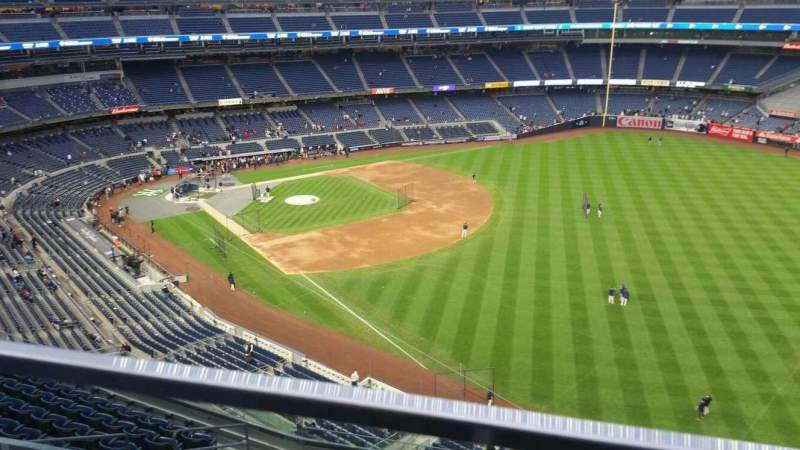 Seating view for Yankee Stadium Section 409 Row 1 Seat 13