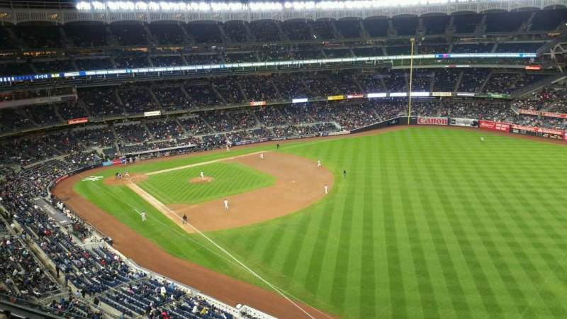 Seating view for Yankee Stadium Section 409 Row 1 Seat 10