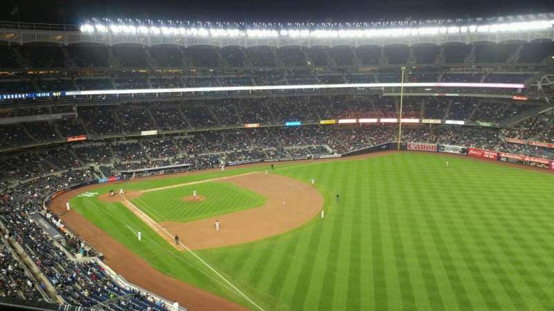 Seating view for Yankee Stadium Section 409 Row 1 Seat 9