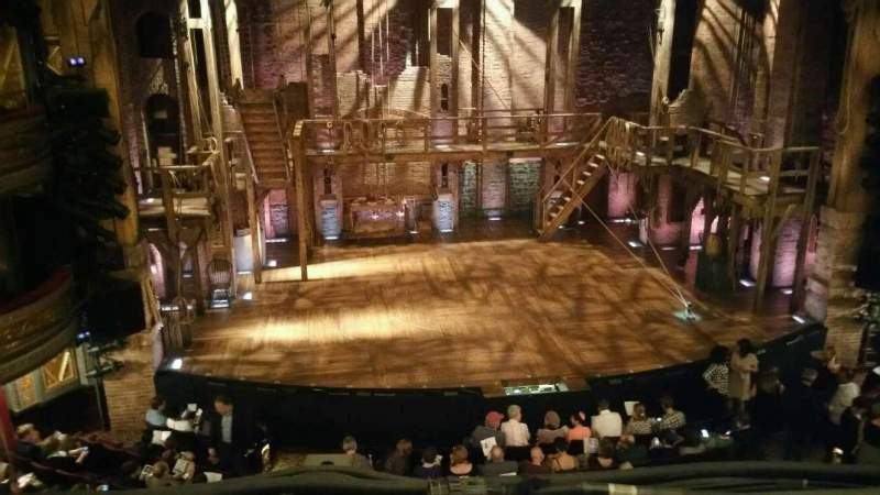 Seating view for Richard Rodgers Theatre Section Front Mezzanine C Row A Seat 114