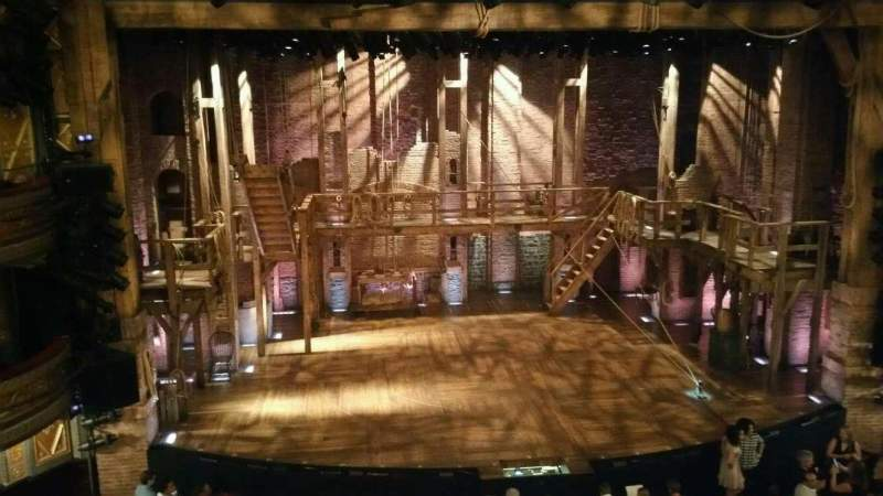 Seating view for Richard Rodgers Theatre Section Front Mezzanine C Row A Seat 113