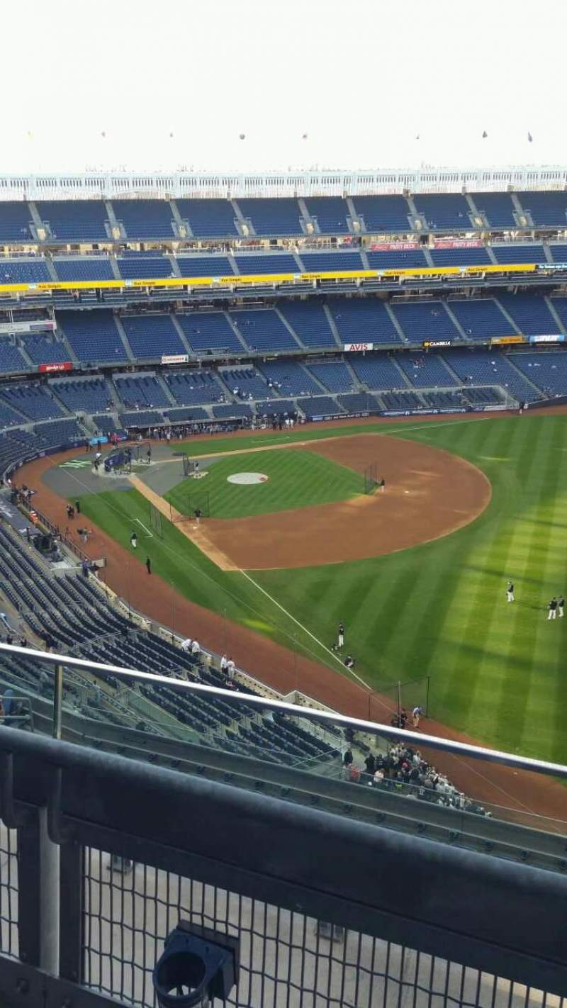 Seating view for Yankee Stadium Section 409 Row 2 Seat 3