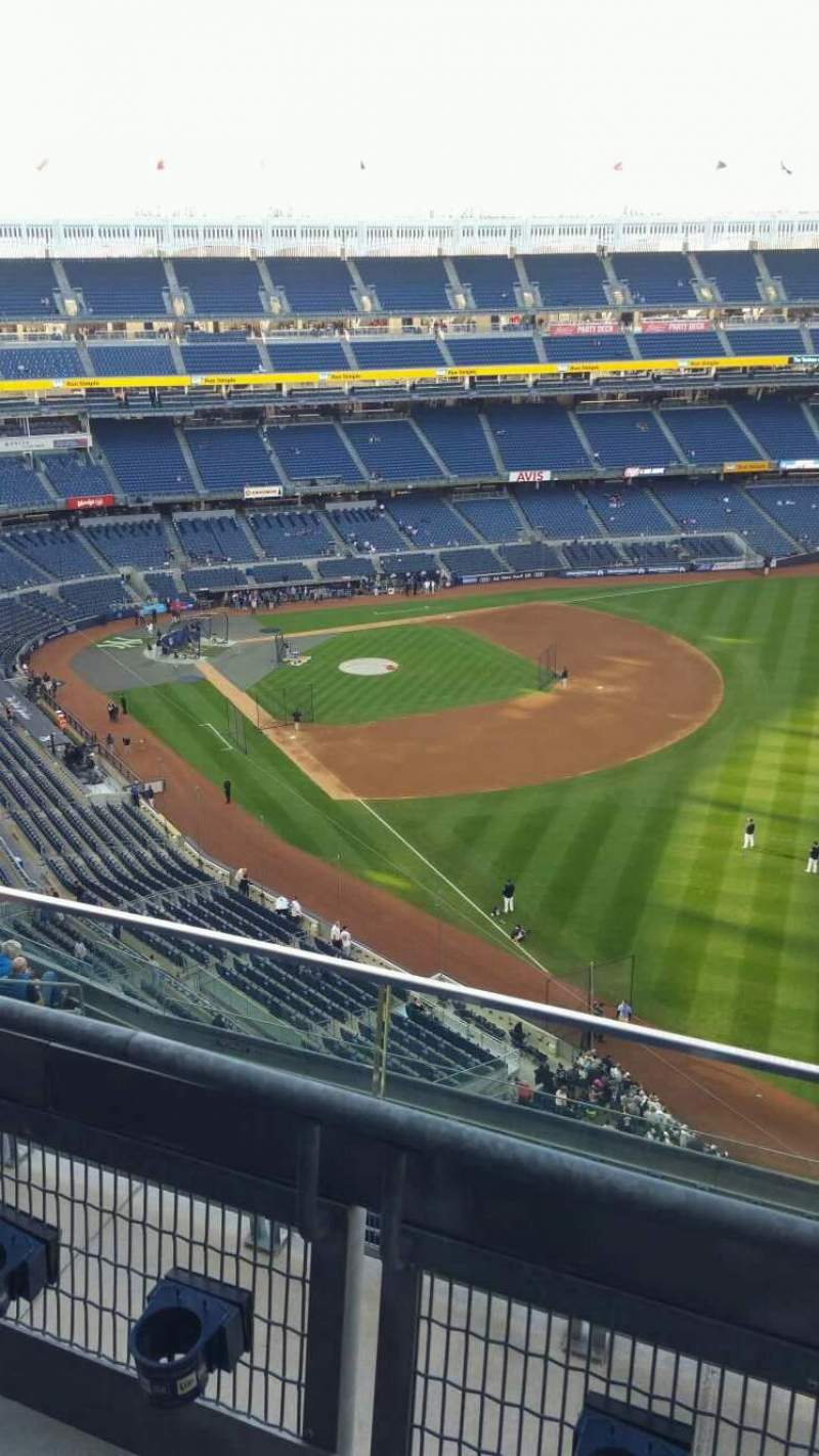 Seating view for Yankee Stadium Section 409 Row 2 Seat 4