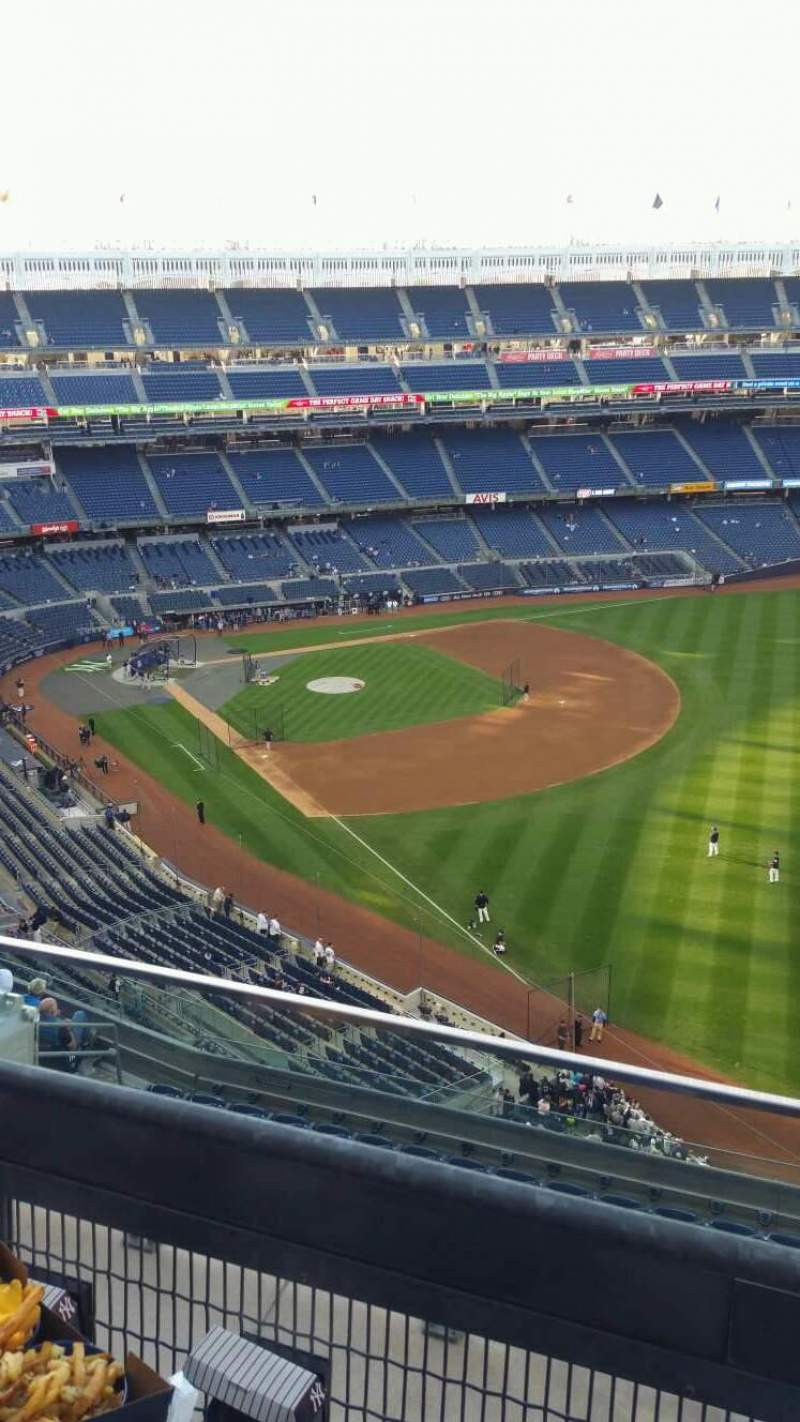Seating view for Yankee Stadium Section 409 Row 2 Seat 6