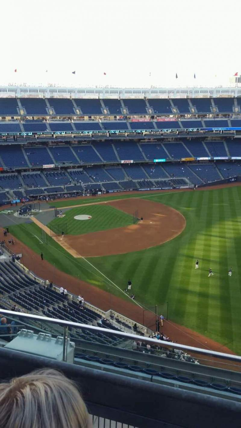 Seating view for Yankee Stadium Section 409 Row 2 Seat 7