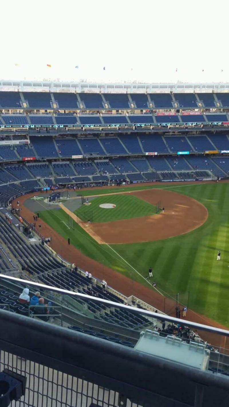 Seating view for Yankee Stadium Section 409 Row 2 Seat 8