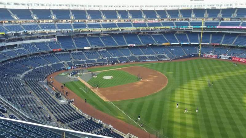 Seating view for Yankee Stadium Section 409 Row 2 Seat 13