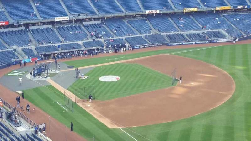 Seating view for Yankee Stadium Section 410 Row 1 Seat 1