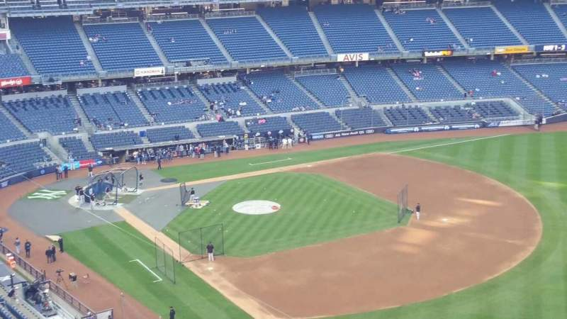 Seating view for Yankee Stadium Section 410 Row 1 Seat 2