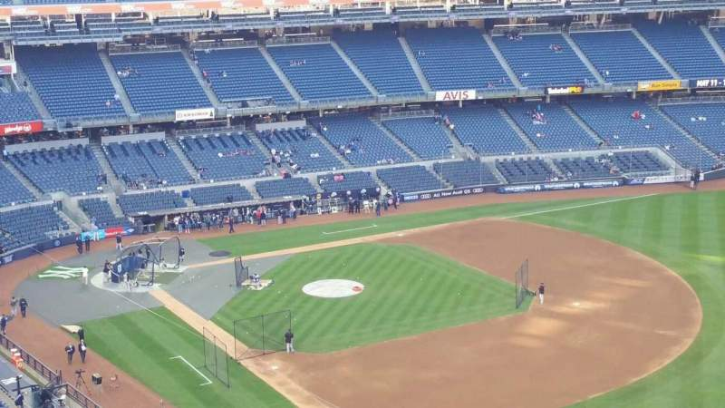 Seating view for Yankee Stadium Section 410 Row 1 Seat 3