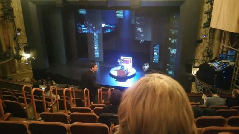 Seating view for Music Box Theatre Section Mezzanine Row J Seat 10
