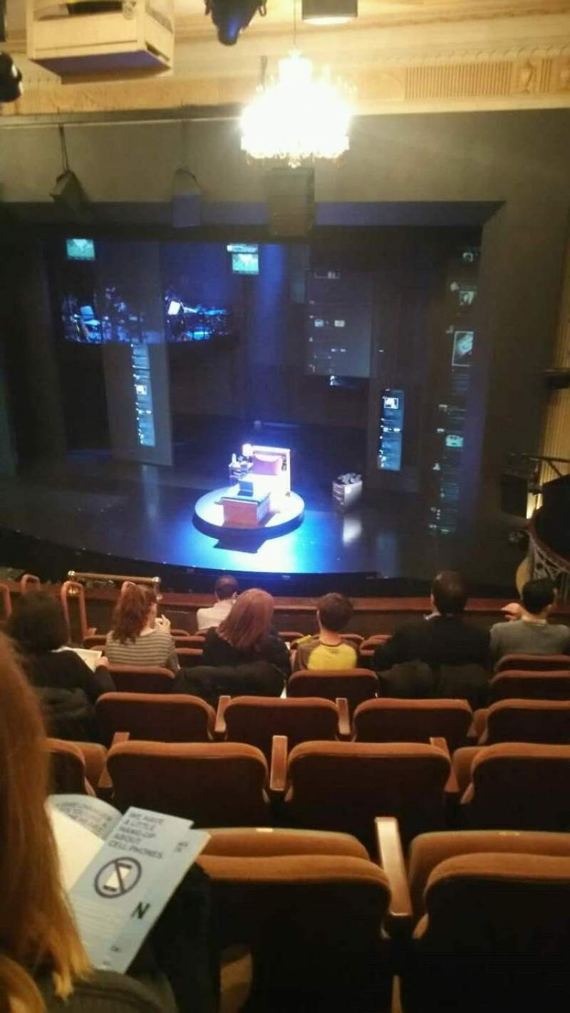 Seating view for Music Box Theatre Section Mezzanine Row J Seat 14