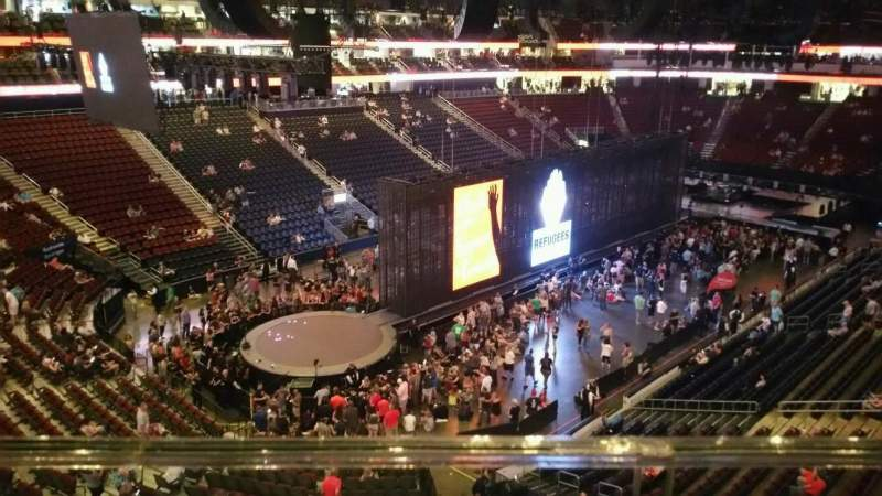 Seating view for Prudential Center Section 107 Row 1 Seat 11