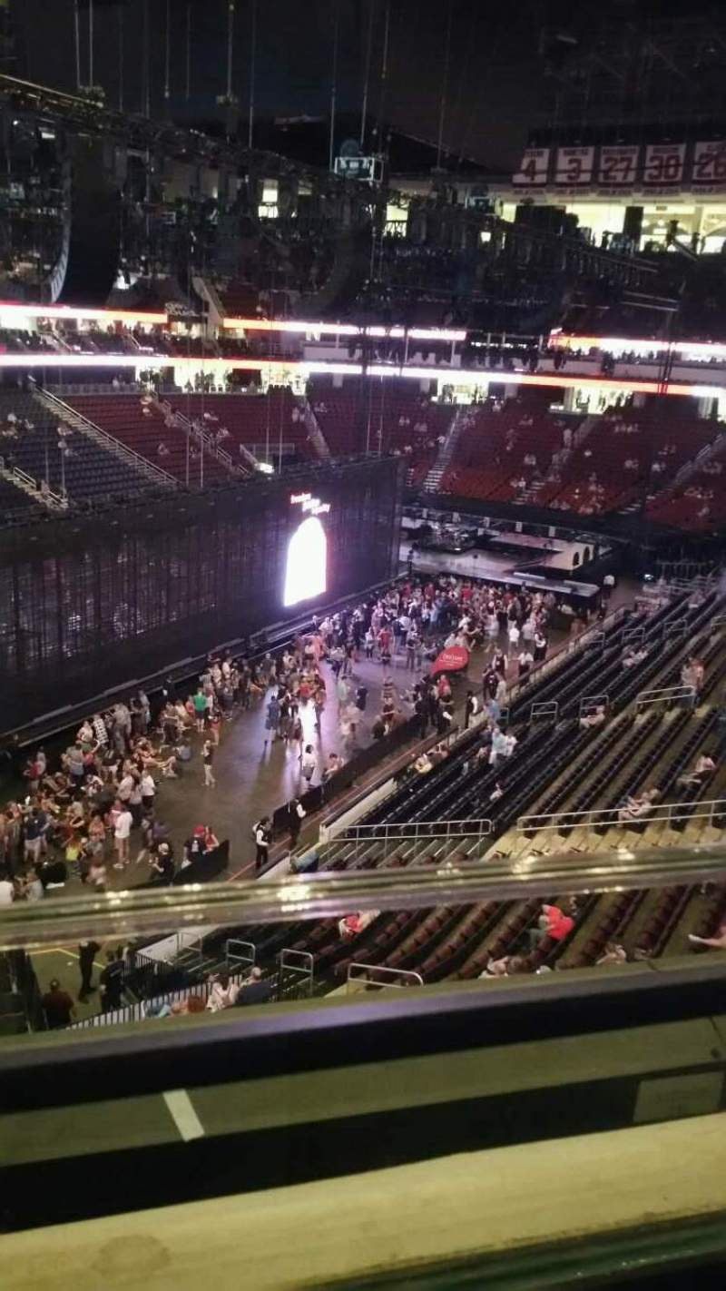 Seating view for Prudential Center Section 107 Row 1 Seat 10