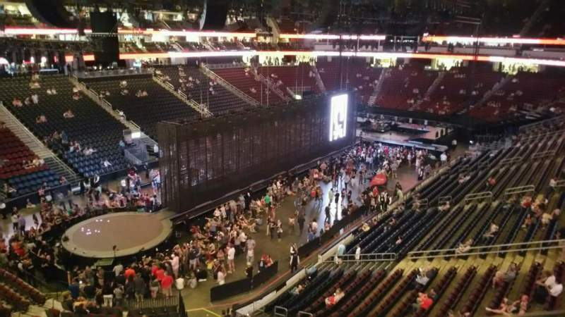 Seating view for Prudential Center Section 107 Row 1 Seat 9