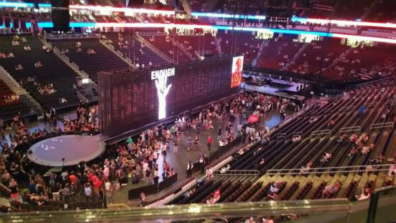 Seating view for Prudential Center Section 107 Row 1 Seat 7