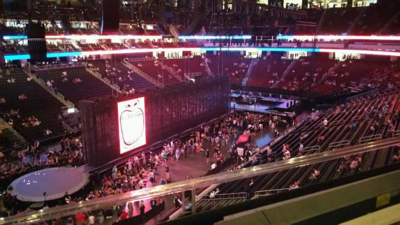 Prudential Center, section: 107, row: 1, seat: 5
