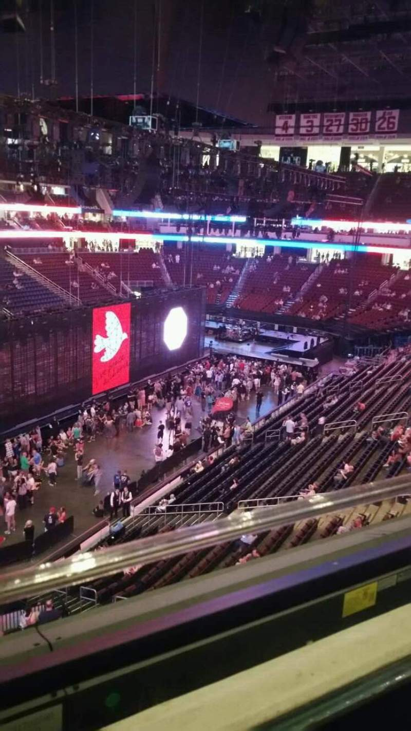 Prudential Center, section: 107, row: 1, seat: 4