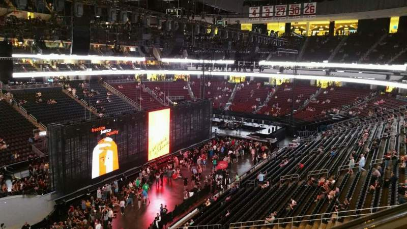 Prudential Center, section: 107, row: 1, seat: 3