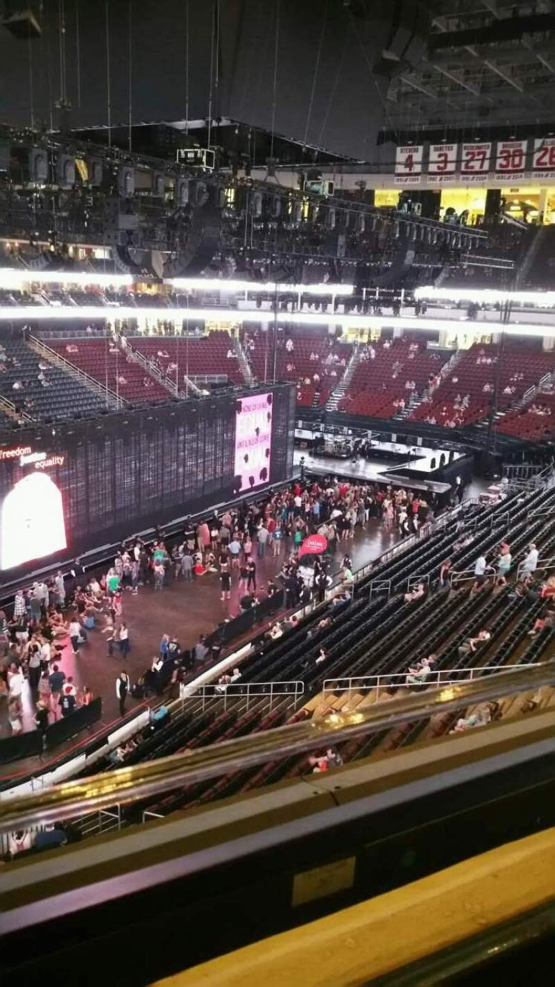 Prudential Center, section: 107, row: 1, seat: 2