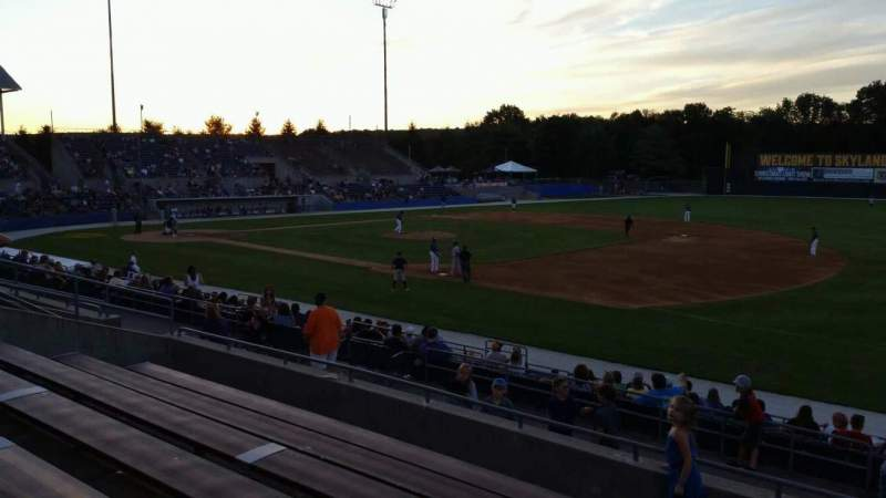 Skylands Stadium, section: 1, row: 14, seat: 1
