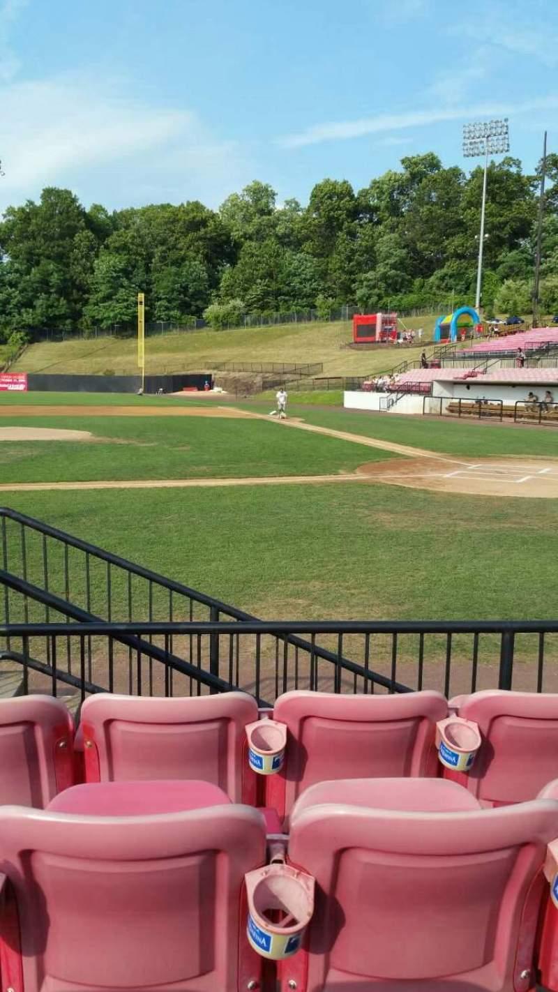 Seating view for Yogi Berra Stadium Section F Row 4 Seat 2
