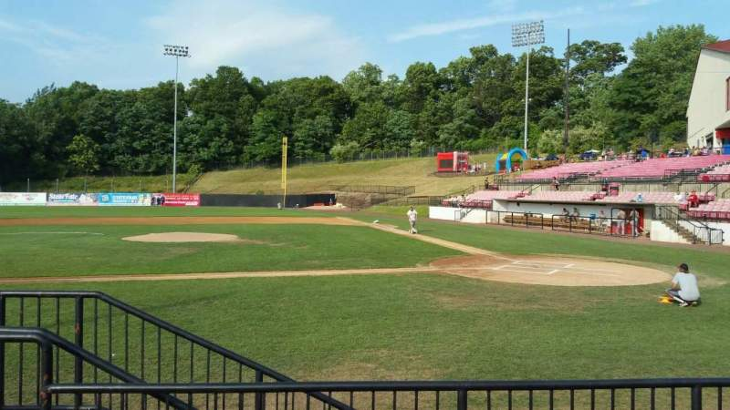 Seating view for Yogi Berra Stadium Section F Row 4 Seat 3