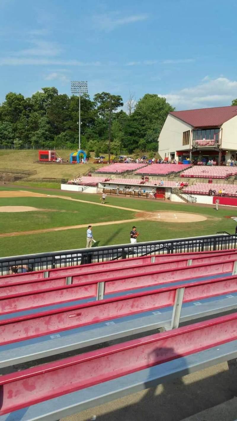 Seating view for Yogi Berra Stadium Section DD Row 7 Seat 4