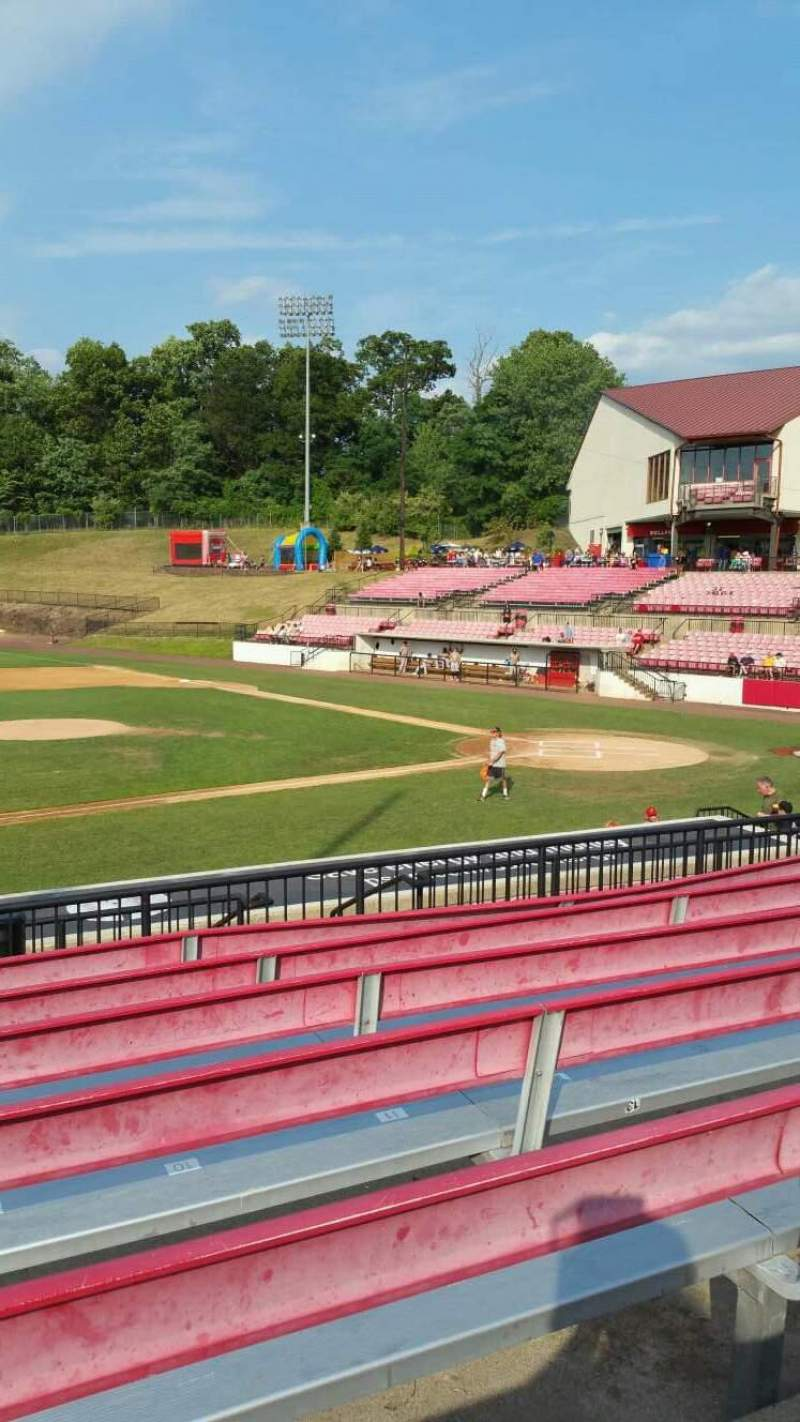 Seating view for Yogi Berra Stadium Section DD Row 7 Seat 8