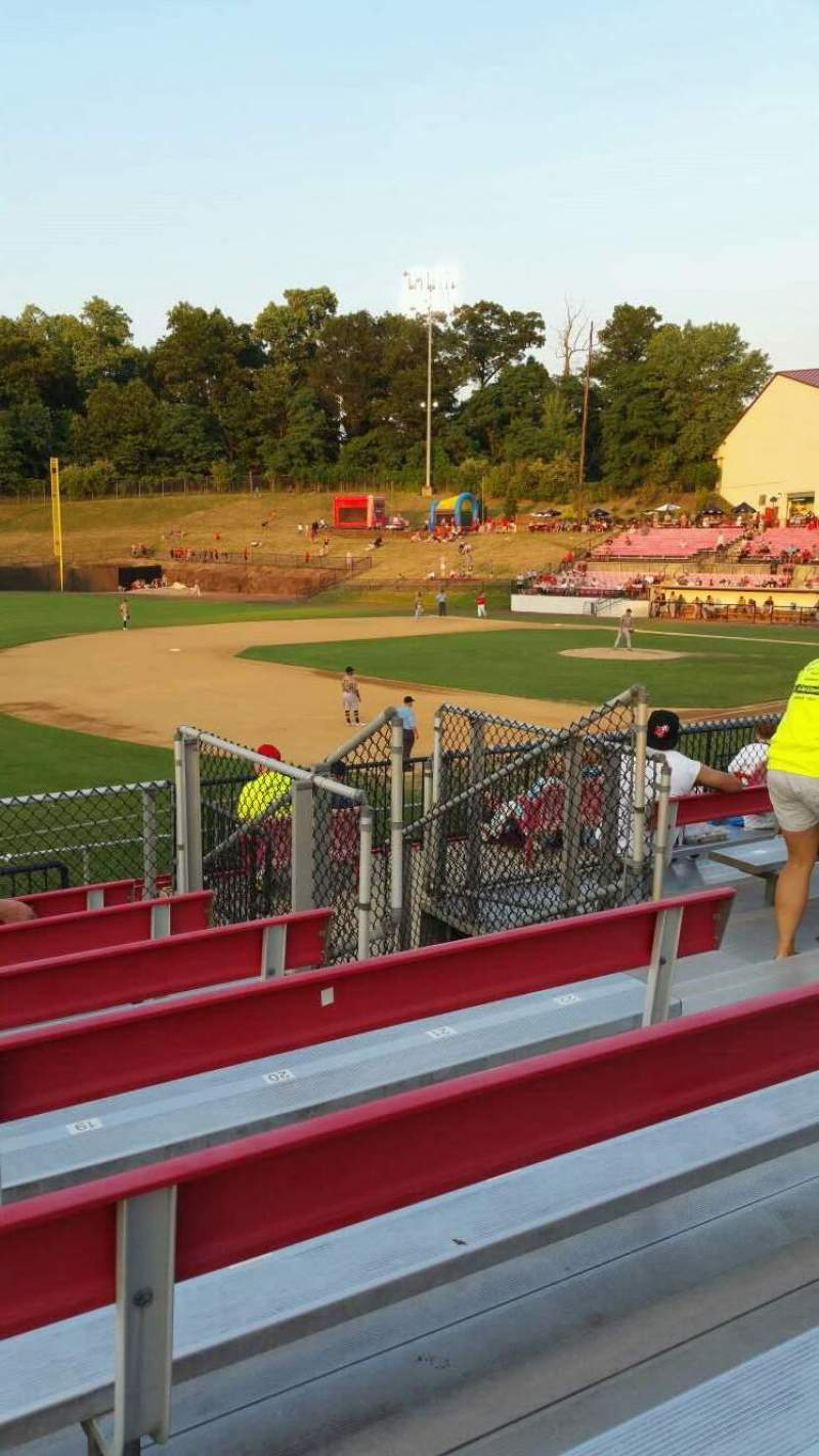 Seating view for Yogi Berra Stadium Section AA Row 7 Seat 17