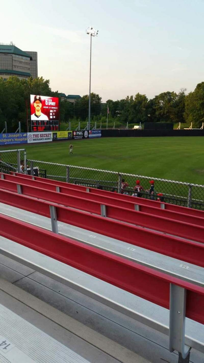 Seating view for Yogi Berra Stadium Section AA Row 7 Seat 16