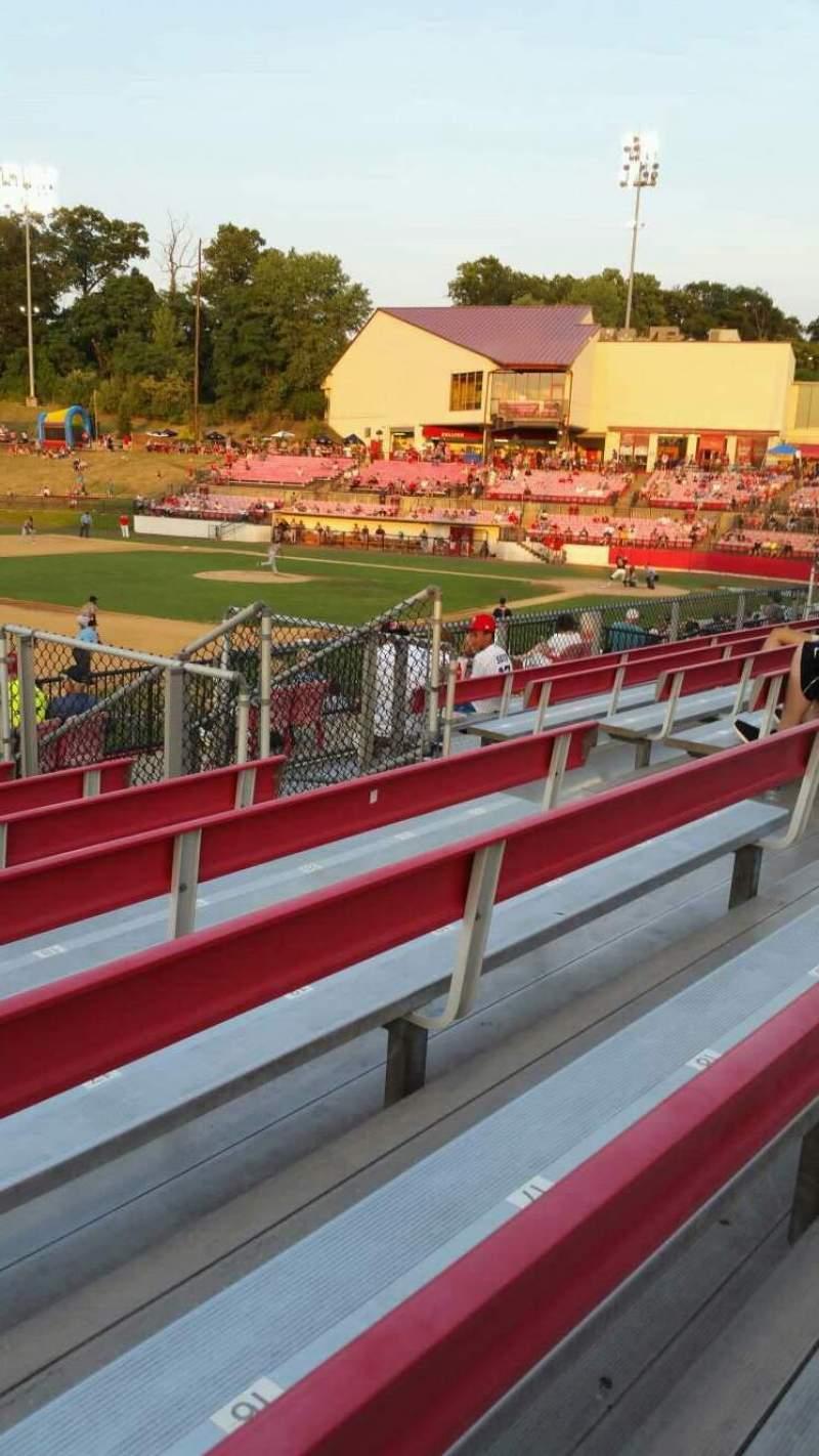 Seating view for Yogi Berra Stadium Section AA Row 7 Seat 14
