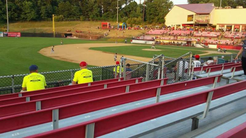 Seating view for Yogi Berra Stadium Section AA Row 7 Seat 13