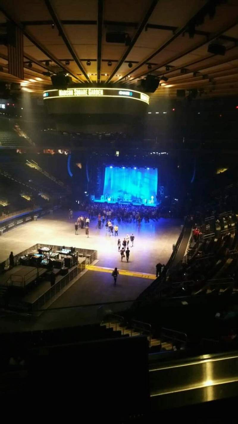 Madison Square Garden, Section 206, Row 2, Seat 1   Beck Tour: Colors Tour,  Shared By Damien