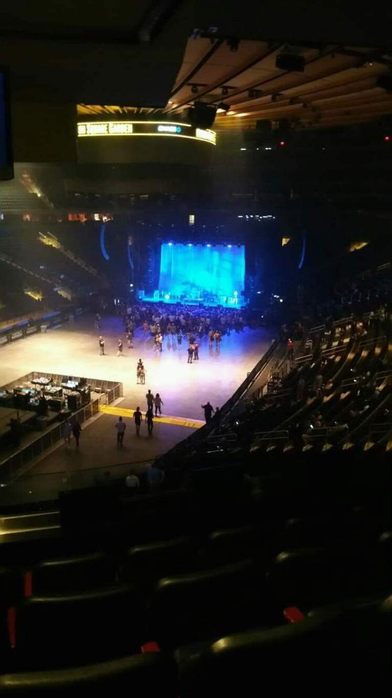 Madison Square Garden, section: 206, row: 5, seat: 9