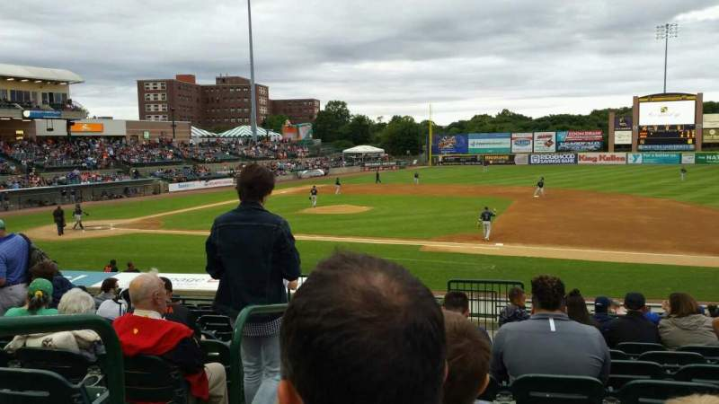 Seating view for Bethpage Ballpark Section 210 Row T Seat 20
