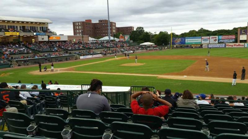 Seating view for Bethpage Ballpark Section 210 Row T Seat 16