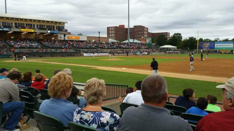 Seating view for Bethpage Ballpark Section 112 Row G Seat 17
