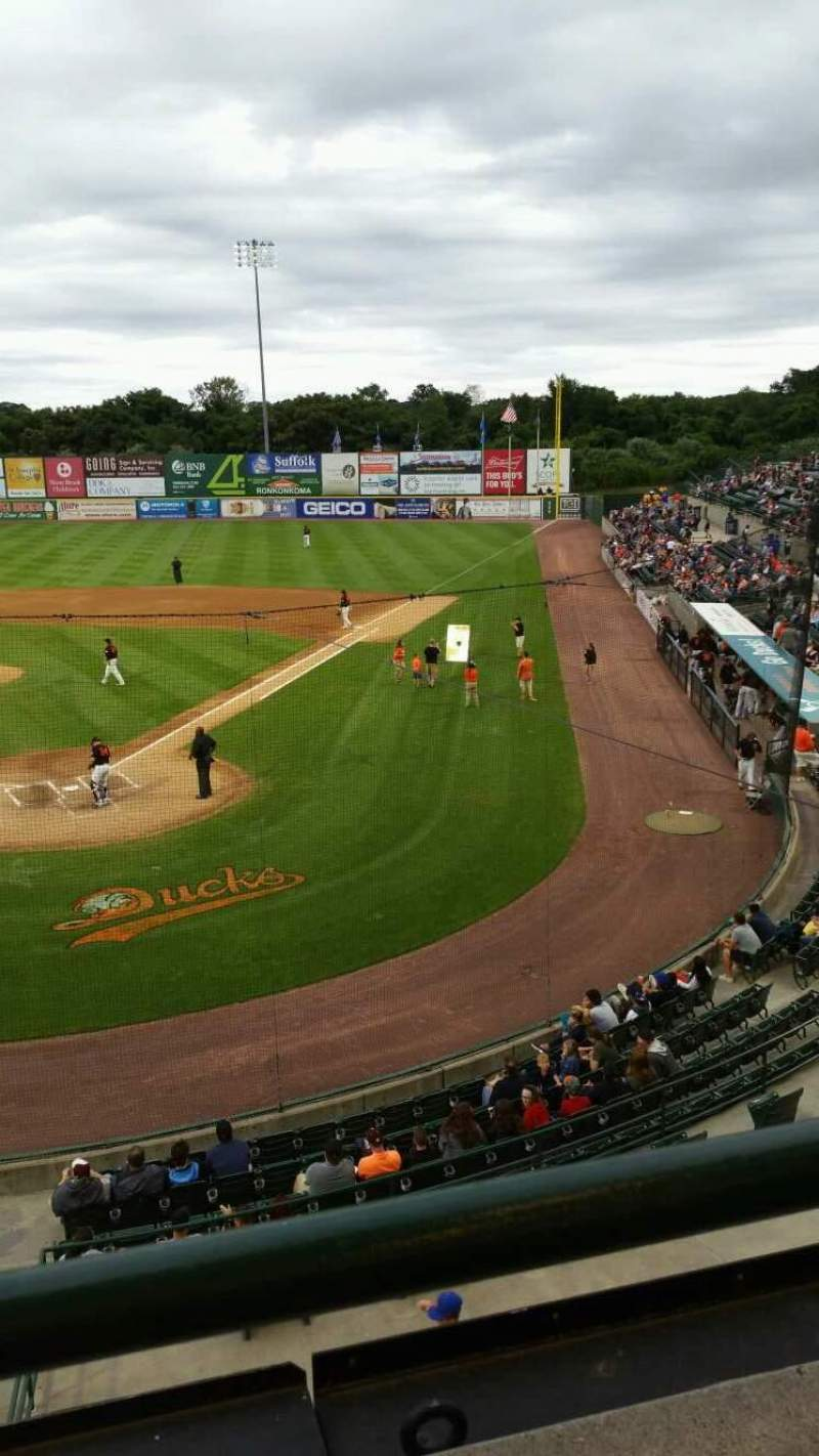 Seating view for Bethpage Ballpark Section 402 Row A Seat 14