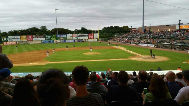 Seating view for Bethpage Ballpark Section 205 Row V Seat 17