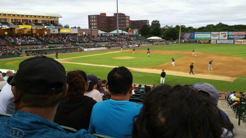 Seating view for Bethpage Ballpark Section 210 Row V Seat 1